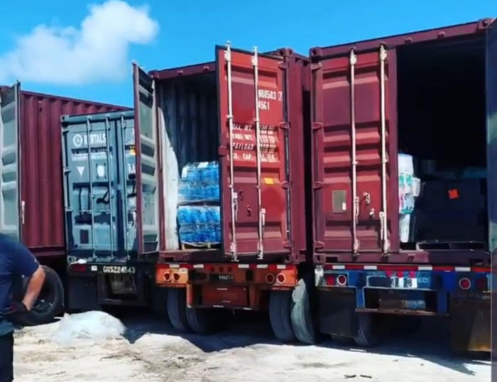 First cargo loads arrive into the Bahamas